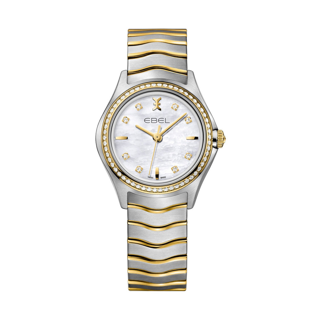 EBEL WAVE GENT, STAINLESS STEEL AND 18K YELLOW GOLD. Ø: 40 MM