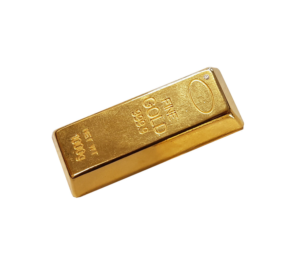 Karatgold solid gold bars with engraving, made in Germany, Pforzheim