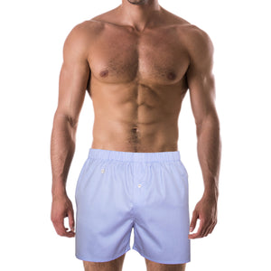DARIO'S Couture Boxershorts Albstadt in 100% Egyptian Giza Cotton in Lightblue