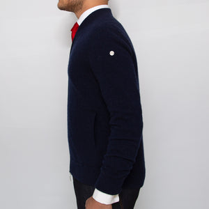 DARIO'S Couture Cardigan Düsseldorf in 100% Loro Piana Cashmere in Darkblue