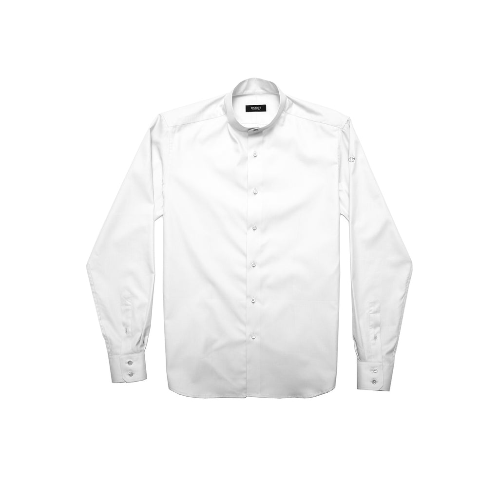 DARIO'S Couture Stand-up collar Men's Shirt Hamburg in 140/2, White