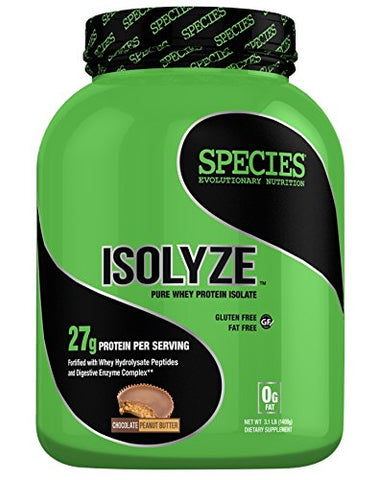 Species Nutrition Isolyze Chocolate Peanut Butter 44 Servings