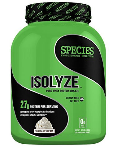 Species Nutrition Isolyze Vanilla Ice Cream 44 Servings