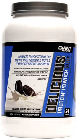 Giant Sports Products Delicious Protein Delicious Cookies and Creme Shake 5 lbs (2268 g)