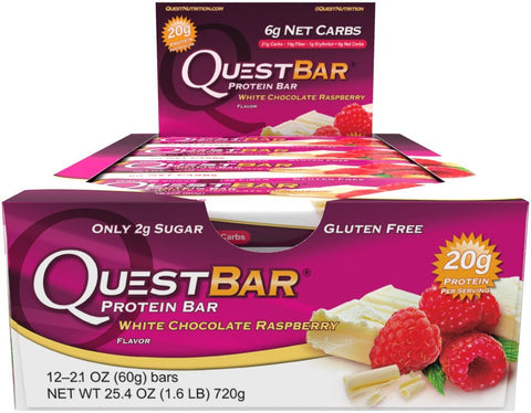 Quest Nutrition Quest Protein Bar White Chocolate Raspberry 12 Bars