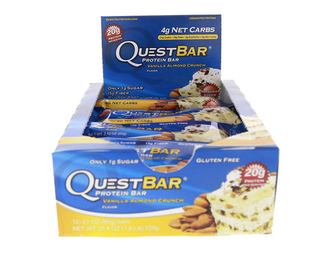Quest Nutrition Quest Protein Bar Vanilla Almond Crunch 12-2.12 oz (60g) Bars