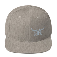 Load image into Gallery viewer, Offset Icon Silver Full Back Snapback Hat