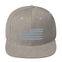 Load image into Gallery viewer, 'Merica silver full back snapback (6 colors)