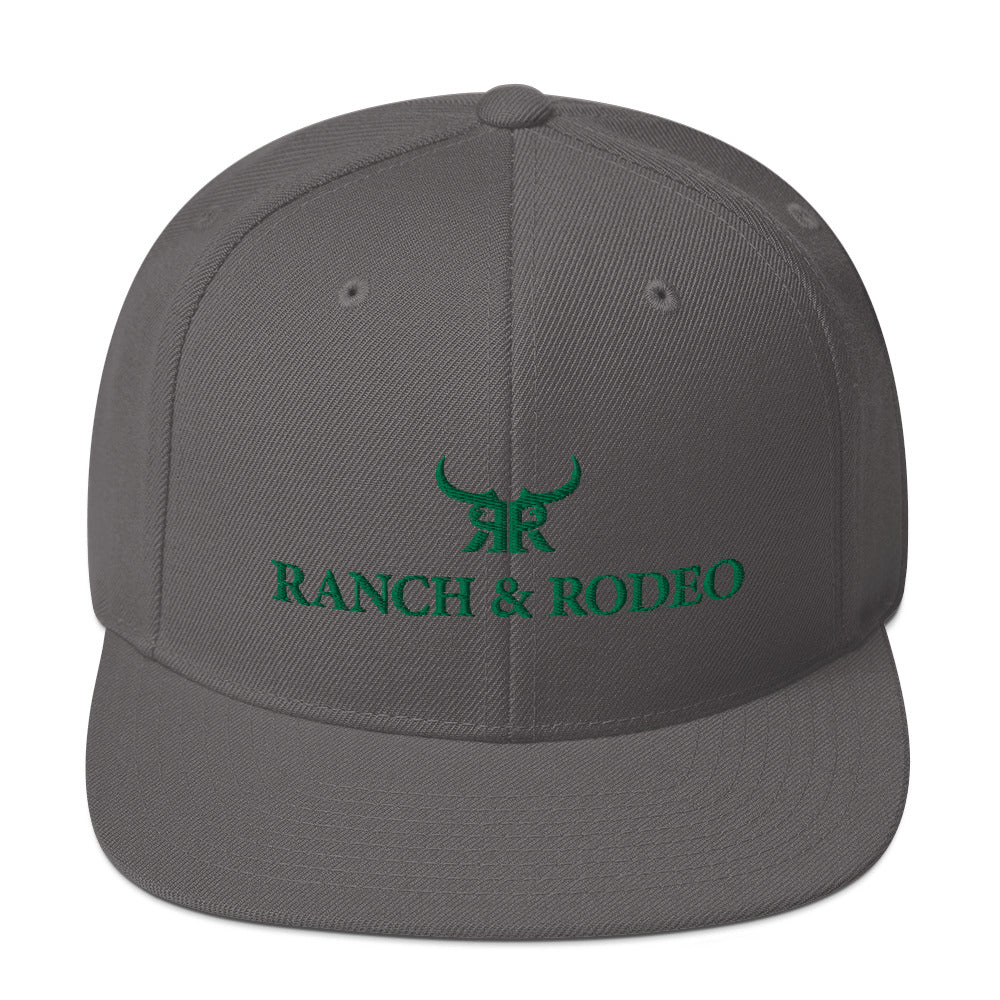 Grey/Green Full Back Snap Back