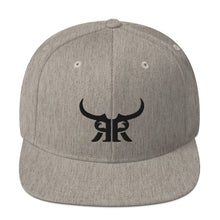 Load image into Gallery viewer, Heather Grey/Black Icon Full Back Snap backl
