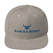Load image into Gallery viewer, Heather Gray/Navy Full Back Snap Back