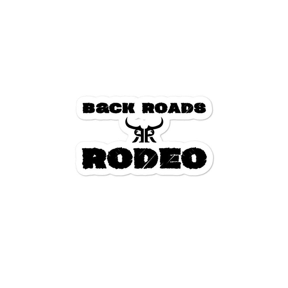 Back roads and rodeo Bubble-free stickers