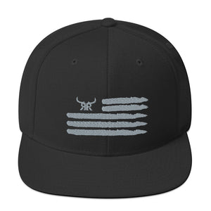 'Merica silver full back snapback (6 colors)