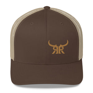 Icon offset Khaki/Brown mesh Trucker Cap