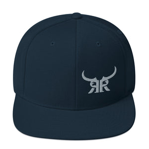 Offset Icon Silver Full Back Snapback Hat