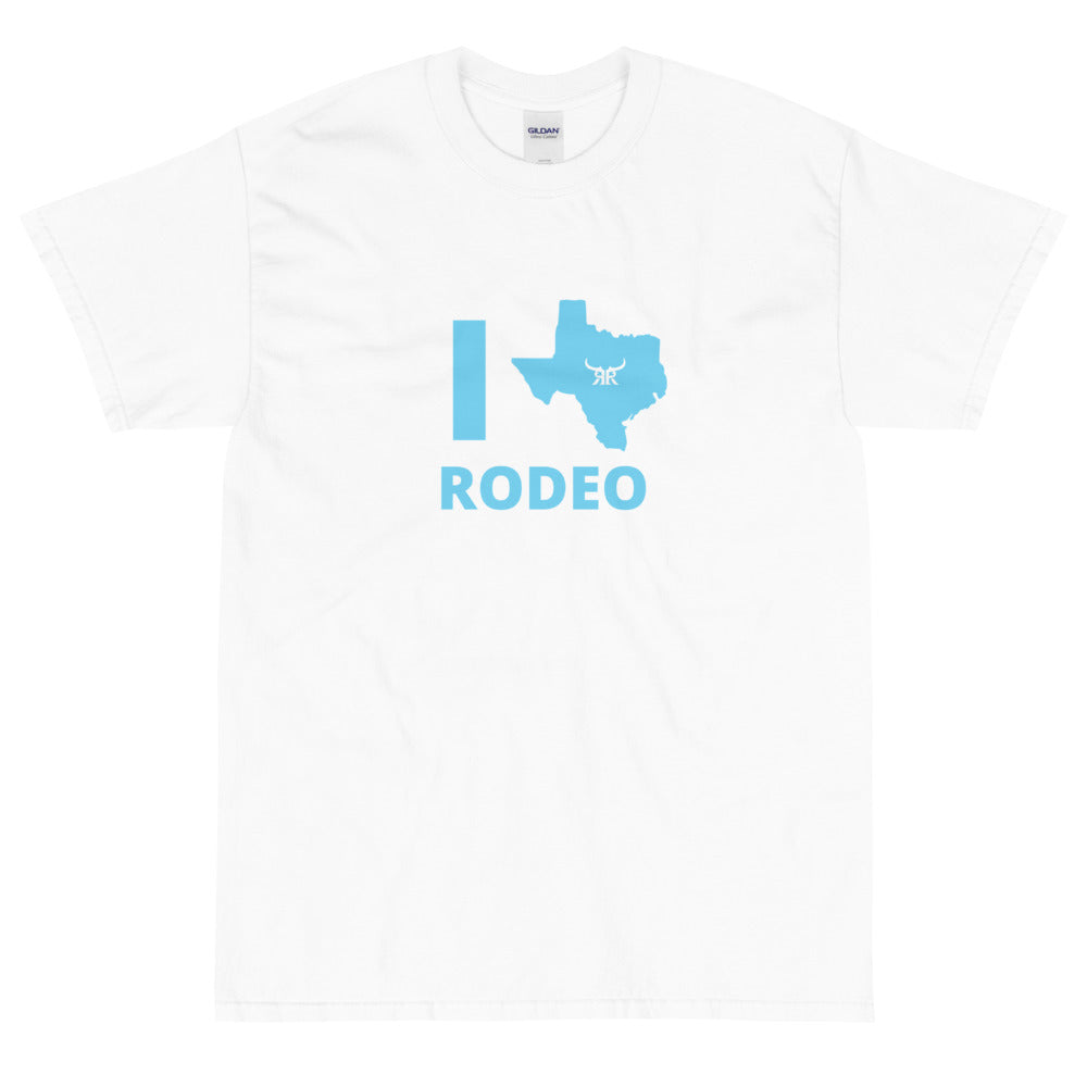 I Love Rodeo Short Sleeve T-Shirt (10 colors)