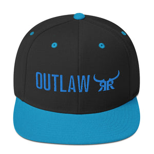 Outlaw Blue Full Back Snapback Hat (9 colors)
