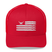 Load image into Gallery viewer, 'Merica Snap back mesh white (8 Colors)