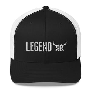 Legend Black and White Mesh Snapback