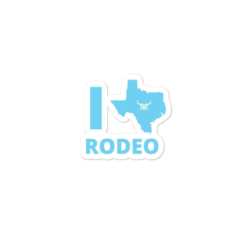 I love rodeo Bubble-free stickers