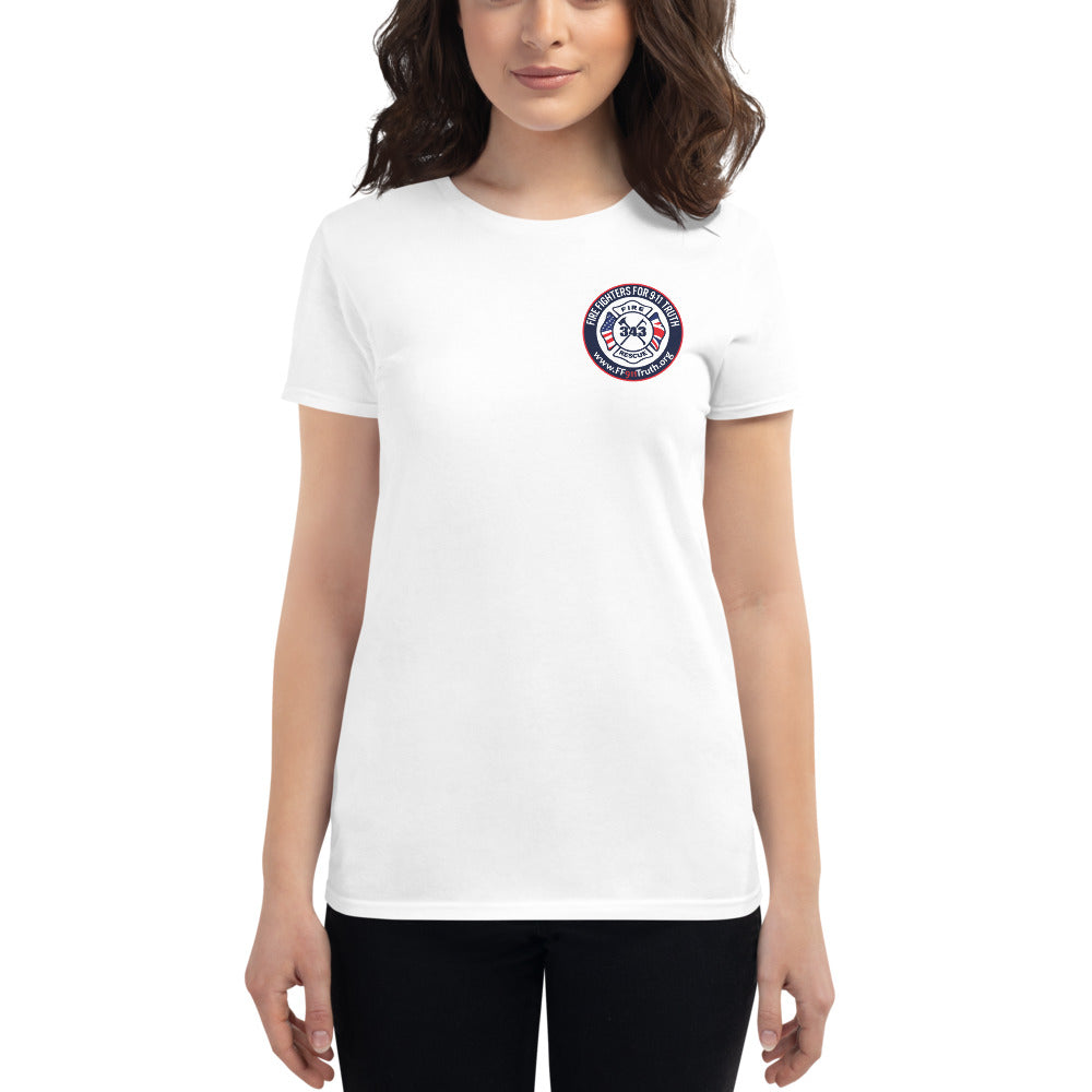 Women's Round Logo Front, Large logo Back