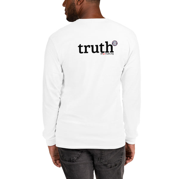 "Men's Long Sleeve Shirt - ""truth"" on back"