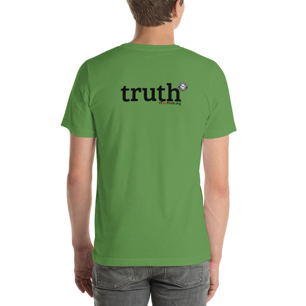 "Round Logo Front, ""truth"" Back Logo - Lighter options. (USA spelling)"