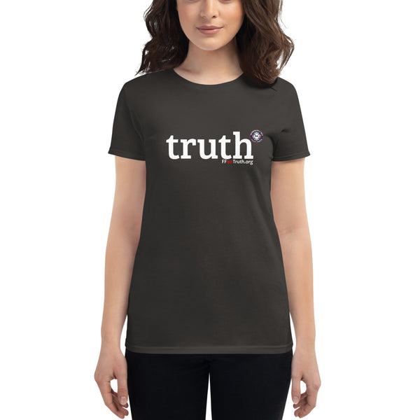 Women's truth-shirt - white logo