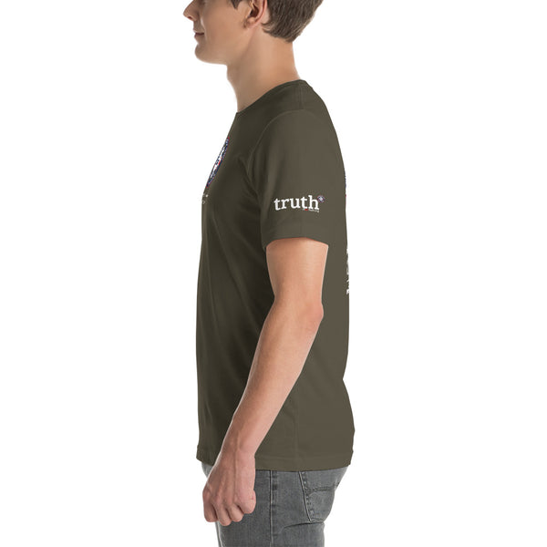 Honour fallen front, truth sleeve, large logo rear