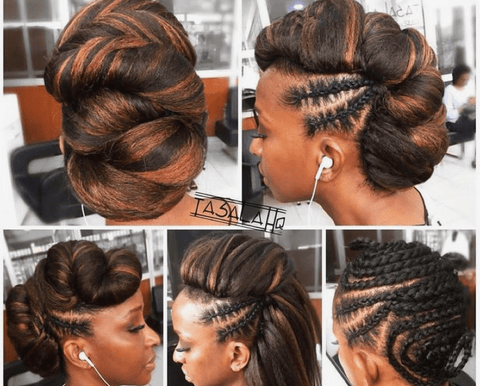 Updos with Crochet Hair