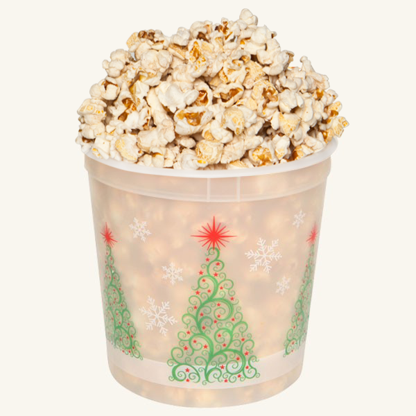 Johnson's Popcorn Small Merry Christmas Tub-Butter