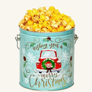 Johnson's Popcorn 1 Gallon Vintage Christmas Tin-Salty-n-Sandy