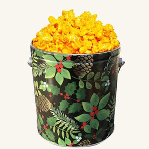 Johnson's Popcorn 1 Gallon Golden Pinecone Tin-Cheddar Cheese