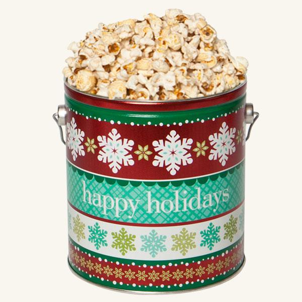 Johnson's Popcorn 1 Gallon Holiday Cheer Tin-Butter