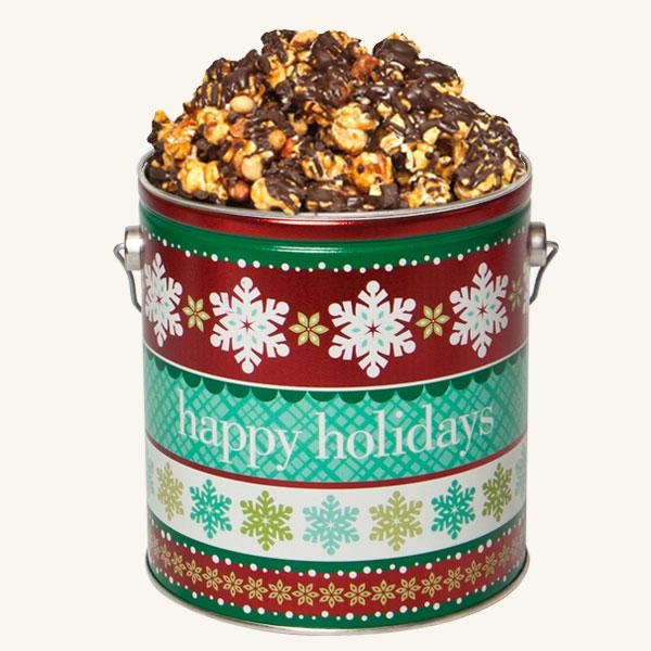 Johnson's Popcorn 1 Gallon Holiday Cheer Tin-Platinum Edition