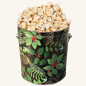 Johnson's Popcorn 1 Gallon Golden Pinecone Tin-Butter