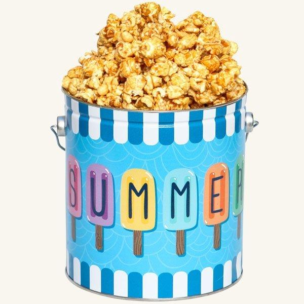 Johnson's Popcorn 1 Gallon Summer Fun Tin-Caramel