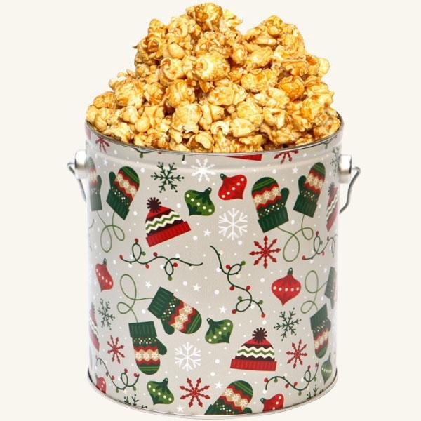 Johnson's Popcorn 1 Gallon Bundled Up Tin-Caramel