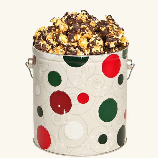 Johnson's Popcorn 1 Gallon Jolly Dots Tin