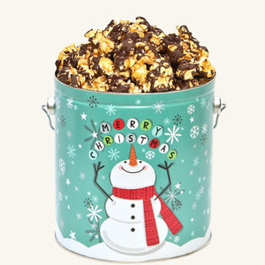 Johnson's Popcorn 1 Gallon Cheery Snowman Tin