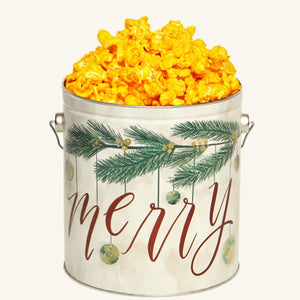 Johnson's Popcorn 1 Gallon Very Merry Tin-Cheddar Cheese
