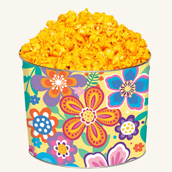 Johnson's 2 Gallon Vivid Flower Tin - Cheddar Cheese