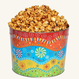 Johnson's Popcorn 2 Gallon Panache Tin-Peanut Crunch