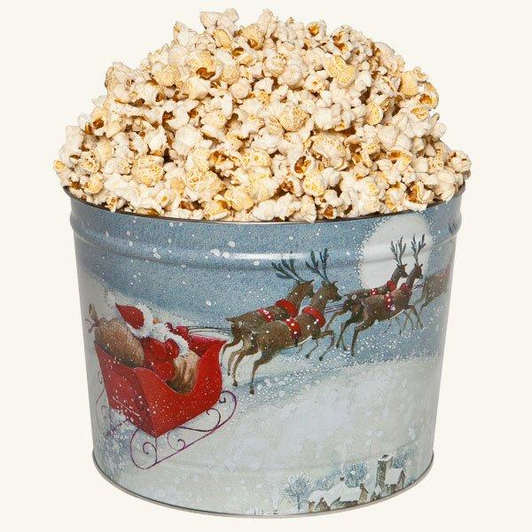 Johnson's Popcorn 2 Gallon Santa's Sleigh Tin-Butter