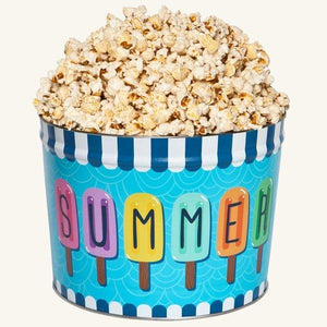Johnson's Popcorn 2 Gallon Summer Fun Tin-Butter