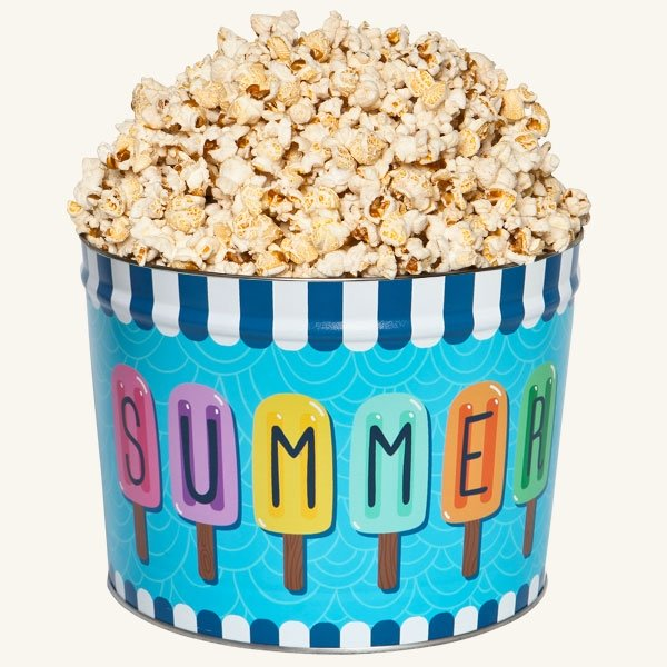 Johnson's Popcorn 2 Gallon Summer Fun Tin