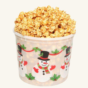 Johnson's Popcorn Large Happy Holidays Tub-Caramel