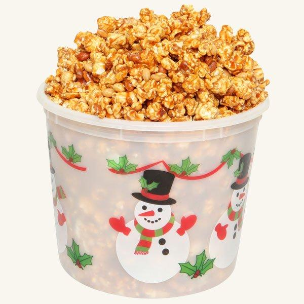 Johnson's Popcorn Large Happy Holidays Tub-Peanut Crunch
