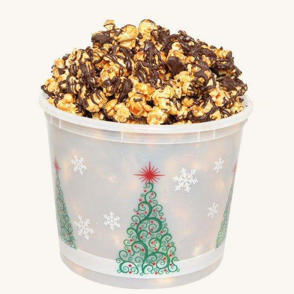 Johnson's Popcorn Large Merry Christmas Tub-Chocolate Drizzle