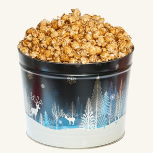 Johnson's Popcorn 2 Gallon Crystal Evening Tin-Caramel